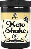 KetoMeals Keto Shake Vanille (30 Portionen) Keto Diät Abnehm Shake | Sättigende Ballaststoffe und Casein Whey Protein Komplex aus Weidehaltung | Low Carb Lebensmittel, 450 GR Pulver