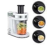 Russell Hobbs Spiralschneider, 300W, 3 Schneideinsätze (schmale & breite Obst- /Gemüsenudeln & Spiralen), Gemüse-/Salatschneider, Auffangbehälter 1,3l, BPA-frei, elektrischer Allesschneider 23810-56