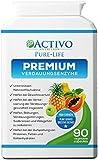 Premium Verdauungsenzyme bei Verstopfung und für die gesunde Verdauung, 90 Vegan Kapseln zur maximalen Aufnahme