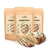 SlimBack - LOWER CARB LANDBROT - Natur - 3 x 245 g - Brot Backmischung ohne Getreide - nur 4 g Kohlenhydrate | Extra gut Bekömmlich | Eiweissbrot Glutenfrei | Keto - Paleo | Hergestellt in Deutschland