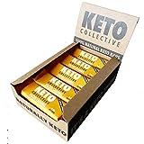 Keto Collective Keto Riegel I Salted Caramel I 2.8g Net Carbs I 100% Natürliche Zutaten I Low Carb I Glutenfrei I Vegan I 15er I Low Carb Keto Bars