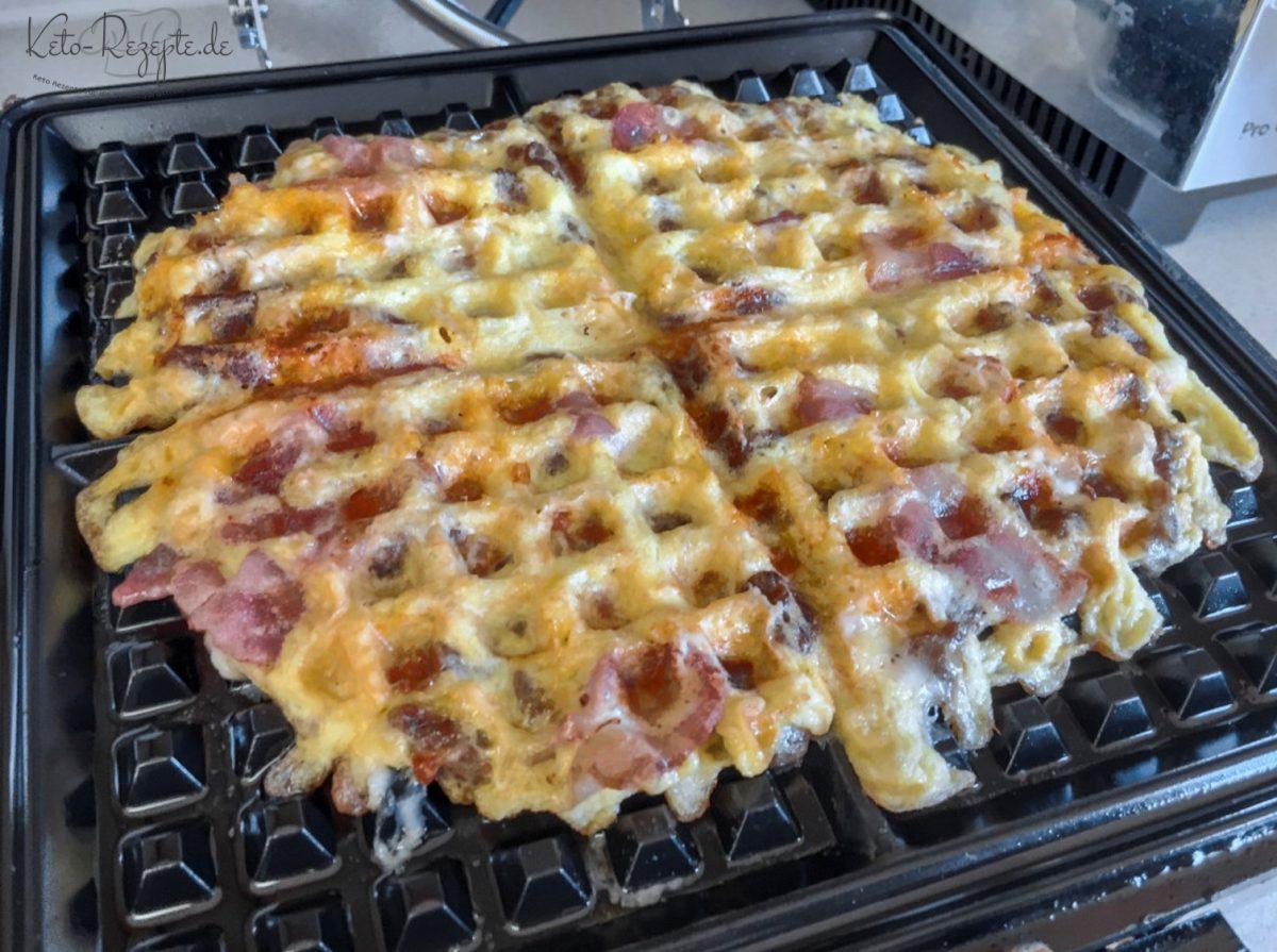 Bacon Käse Waffeln