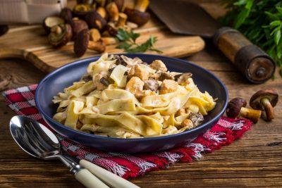 Pilz-Rahm-Pasta Low Carb Nudeln