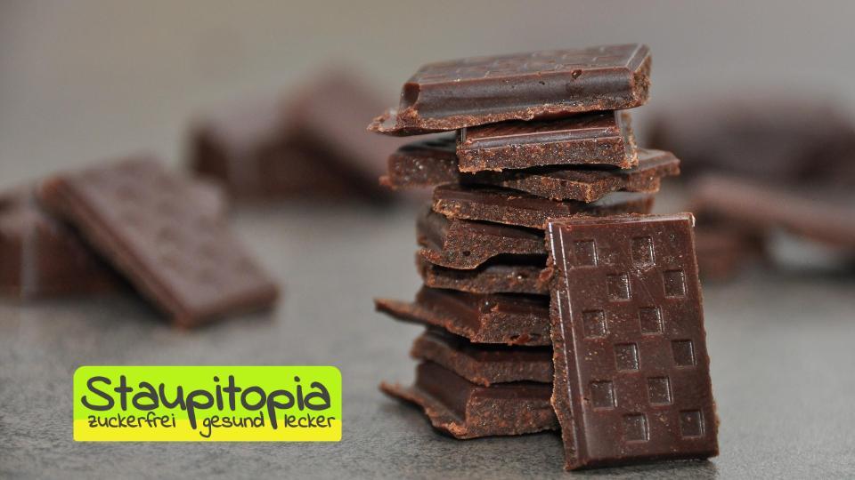 Die besten Low Carb Desserts: Low Carb Zartbitter Schokolade ohne Zucker
