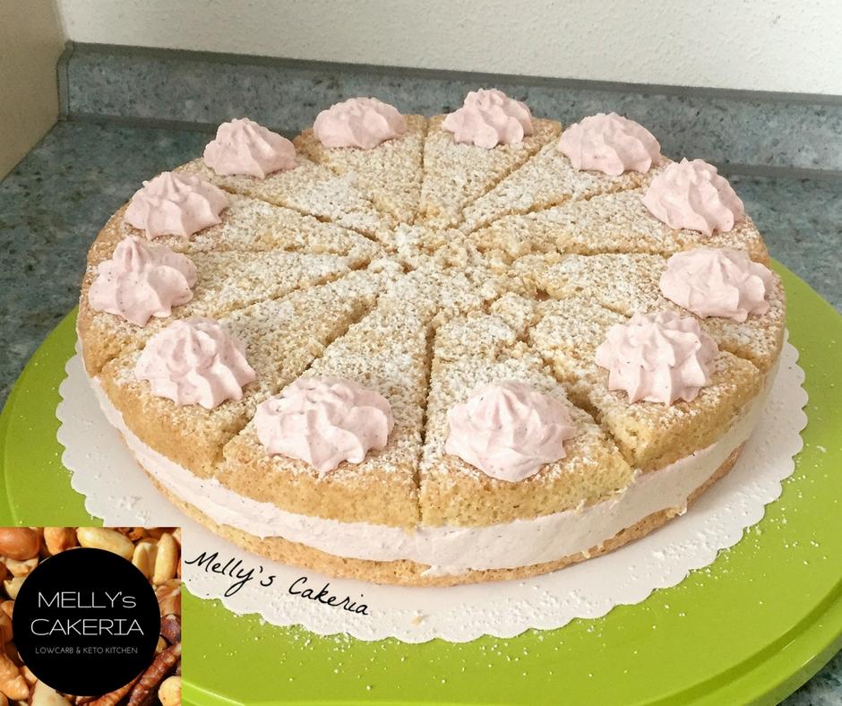 LowCarb Kirschsahne-Torte