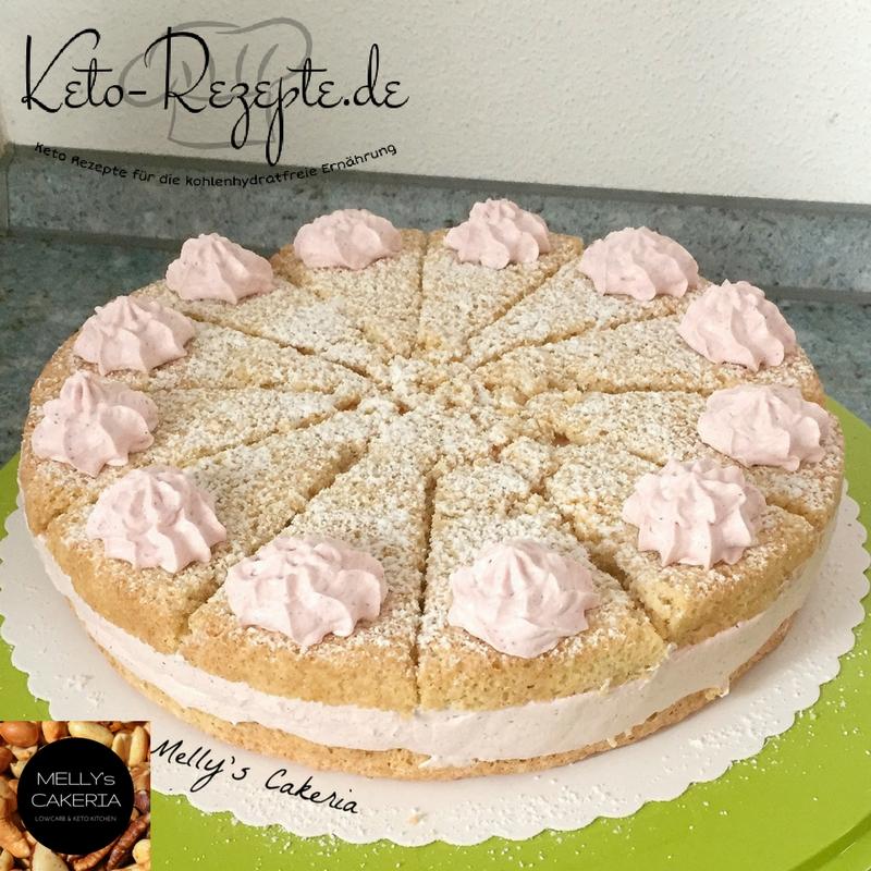 Keto Kirschsahne Torte