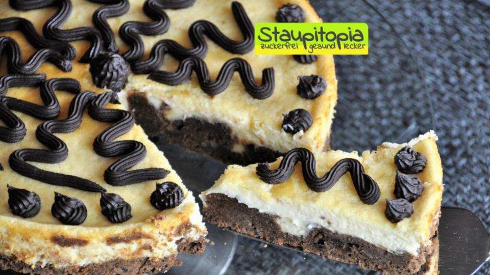 Low Carb Brownie Cheesecake