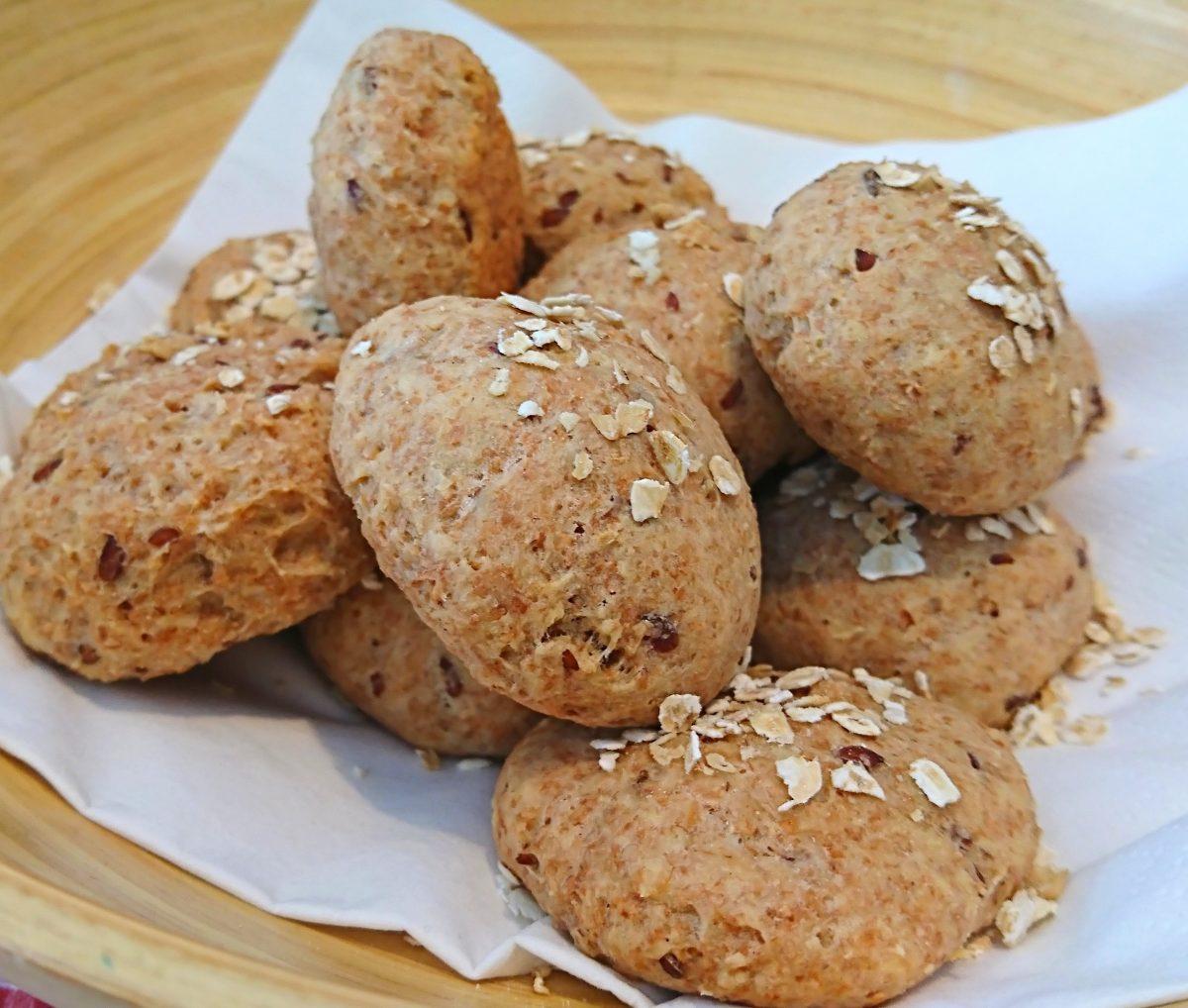 Vegan Keto-Partybrötchen - Super low carb Frühstücksalternative