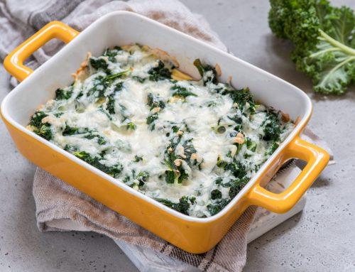 Grünkohlauflauf mit Ei und Käse